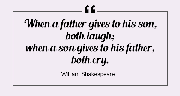 When a father gives to his son