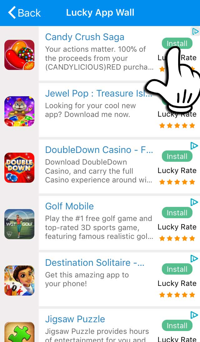 Lottery-Lucky-App-Wall